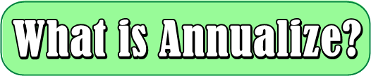 What is Annualize?