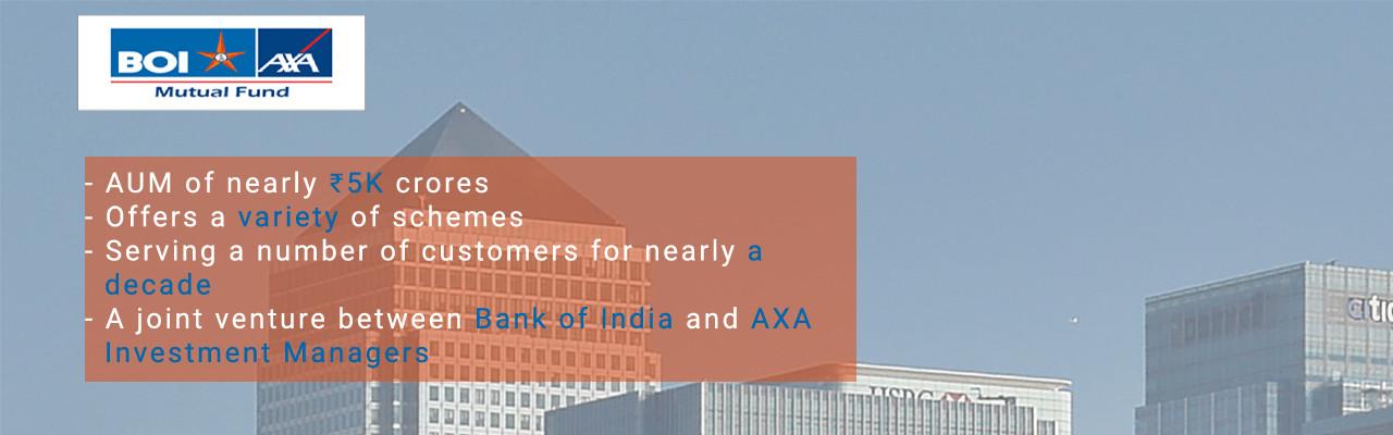 BOI AXA Mutual Fund | AXA MF | Bharti AXA Mutual Fund | BOI AXA Mutual Fund NAV