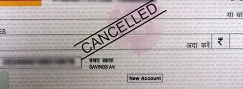 Cancelled Check