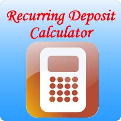 RD Calculator – Recurring Deposit Calculator