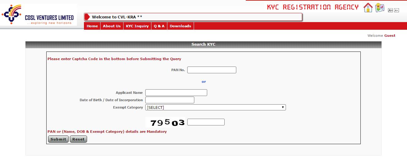 CVL-KRA-KYC-Status-Inquiry