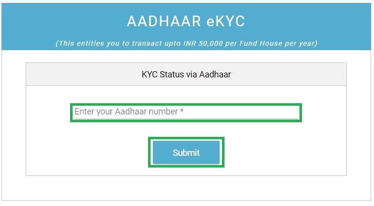 How to do Aadhaar eKYC Through Fincash.com?